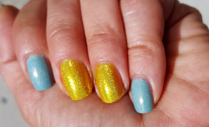 Enchanted Polish Daydream with House of the Rising Sun accent nails
